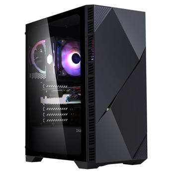 Кутия Zalman Z3 ICEBERG, E-ATX/ATX/Micro ATX/Mini-ITX, 2x USB 3.0, 1x USB 2.0, прозорец, черна, без захранване image
