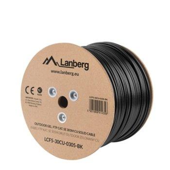 Kабел Lanberg , FTP, Cat5e, 305m, черен image