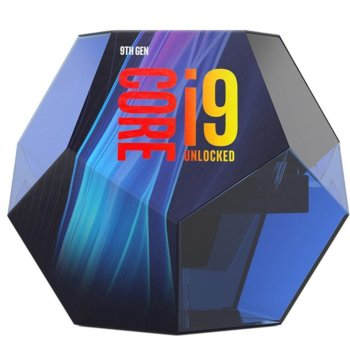 Процесор Intel Core i9-9900K осемядрен (3.6/ 5.0 GHz, 16 MB SmartCache, 350 MHz-1.20 GHz, LGA1151) Box, без охлаждане image