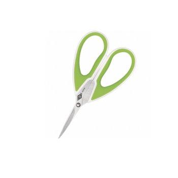 Ножица Wedo Comfortline, 15 cm, със зелени дръжки image