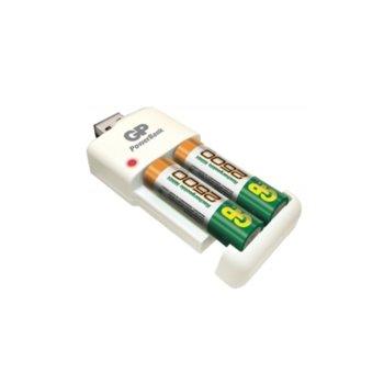 Зарядно устройство GP PB530USB250, 2x слота, за NiMh AA/AAA батерии, USB image