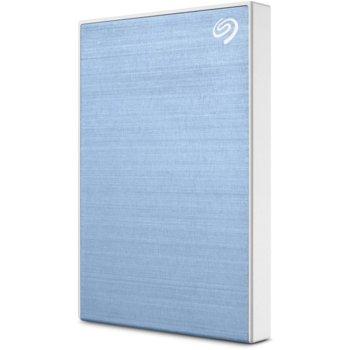 """Твърд диск 1TB Seagate Backup Plus Slim (светло син), външен, 2.5"""" (6.35 cm), USB 3.0 image"""