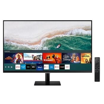"""Монитор Samsung LS32AM700 (LS32AM700UUXEN), 32"""" (81.28 cm) VA панел, 4K UHD LED, 8ms, 250 cd/m2, HDMI, DisplayPort, USB Type-C, 2x USB image"""