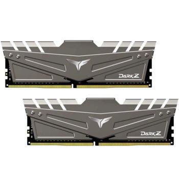 Памет 32GB(2x16GB) DDR4, 3200MHz, TeamGroup T-FORCE DARK Z Grey (TDZGD432G3200HC16CDC01), 1.35V image