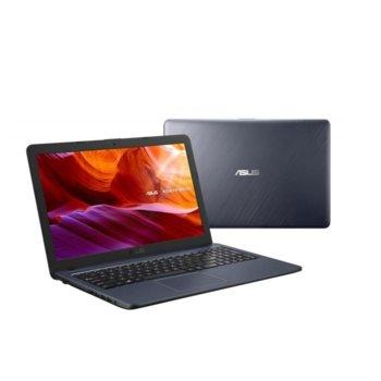 "Лаптоп Asus X543UA-DM1764T (90NB0HF7-M26330)(сив), двуядрен Kaby Lake R Intel Pentium 4417U 2.30 GHz, 15.6"" (39.62 cm) Full HD Anti-Glare Display, (HDMI), 4GB DDR4, 1TB HDD, 1x USB 3.1, Windows 10, 1.90 kg image"