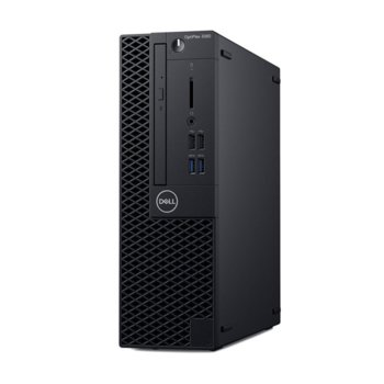 Настолен компютър Dell Optiplex 3060 SFF (N041O3060SFF_UBU3-14), шестядрен Coffee Lake Intel Core i5-8500 3.0/4.1 GHz, 8GB DDR4, 1TB HDD, 4x USB 3.1, клавиатура и мишка, Linux image