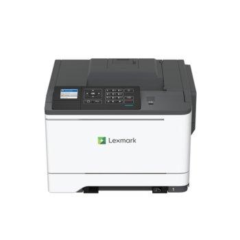 Лазерен принтер Lexmark C2425dw, цветен, 1200 x 1200 dpi, 23 стр/мин, USB, Wi-Fi, LAN, A4, двустранен печат image