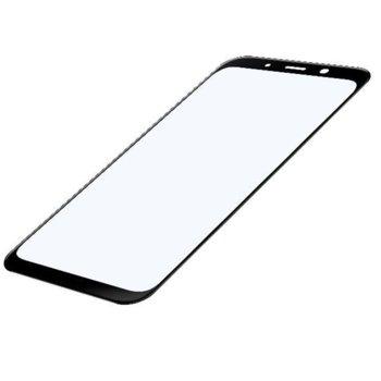 Протектор от закалено стъкло /Tempered Glass/ за Samsung Galaxy A8 (2018), смартфон, черно image