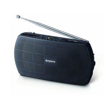 """Радио портативно Sony SRF-18, 2x """"AA"""" батерии, черен image"""
