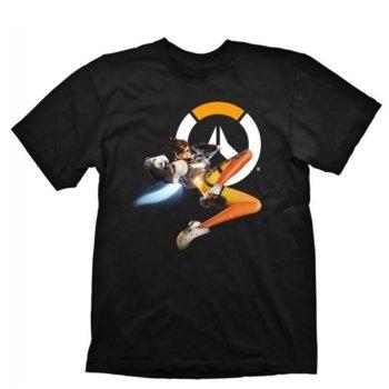 Тениска Gaya Entertainment Overwatch Tracer, размер XXL, черна image