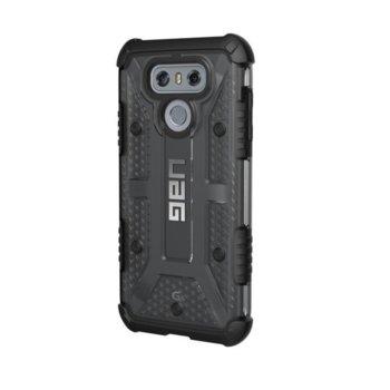 Калъф за LG G6, хибриден, Urban Armor Plasma LGG6-L-AS, удароустойчив, черен-прозрачен image