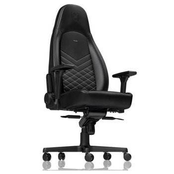 Геймърски стол Noblechairs Icon, до 150кг. макс тегло, газов амортисьор, коригиране на височината, черен image