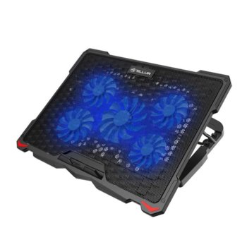 "Охлаждаща поставка за лаптоп Tellur Basic, за лаптопи до 17.3"" (43.94 cm), USB, черна image"
