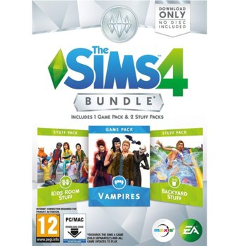 Игра The Sims 4 Bundle Pack 7 - Vampires, Kids Room Stuff, Backyard Stuff, за PC image