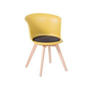 Трапезен стол Carmen 9968, жълт image