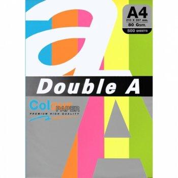 Хартия Double A Rainbow 32420, A4, 80 g/m2, 500 листа, различни цветове image