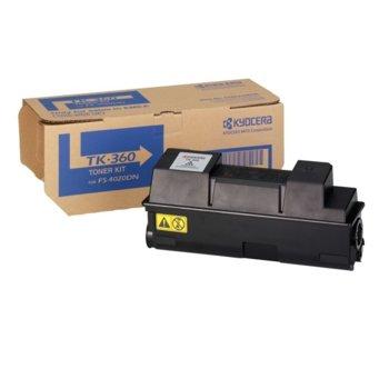 Тонер касета за Kyocera FS 4020 - Black - GraphicJet TK-360 - заб.: 20000k image