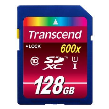 Карта памет 128GB SDXC, Transcend Ultimate, Class 10 UHS-I, скорост на четене 90MB/s, скорост на запис 60MB/s image