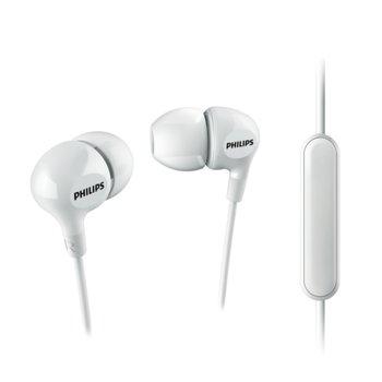 Слушалки Philips, микрофон, бели image