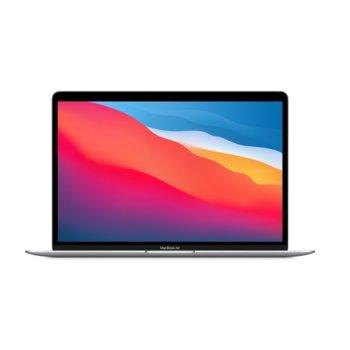 "Лаптоп Apple MacBook Air 13.3 (MGNA3ZE/A)(сребрист), осемядрен Apple M1 3.20 GHz, 13.3"" (33.78 cm) Retina IPS LED-Backlit Display, (Thunderbolt 3), 8GB, 512GB SSD, 2x Thunderbolt 3, macOS image"