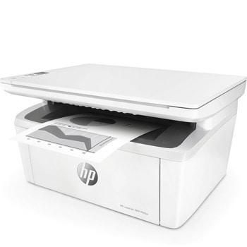 Мултифункционално лазерно устройство HP LaserJet Pro MFP M28w, цветен, принтер/копир/скенер, 600 x 600 dpi, 18 стр/мин, USB, А4, Wi-Fi image
