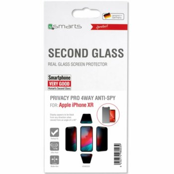 Протектор от закалено стъкло /Tempered Glass/, 4Smarts 4S493328, за Apple iPhone XR image