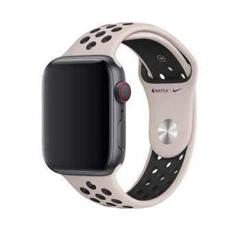 Каишка за смарт часовник Apple Watch (44mm) Nike Band: Desert Sand/Black Nike Sport Band - S/M & M/L, бежова image