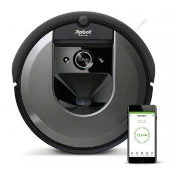 Прахосмукачка IRobot Roomba i7 7158, робот, безжична, навигация iAdapt 3.0, AeroForce филтър, сензор против падане по стълби, сив image