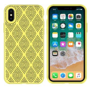 Силиконов гръб Apple iPhone X/XS жълт Grid product