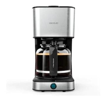 Ръчна шварц кафемашина Cecotec 1554 950, 950W, капацитет на резервоара 1.5л., 12 чашки вместимост, технология ExtremeAroma, функция за автоматично изключване, инокс image
