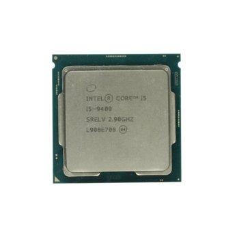 Процесор Intel Core i5-9400, шестядрен (2.9/4.10GHz 9MB L3 Cache, 350 MHz - 1.05 GHz, LGA1151) Tray, без охлаждане image