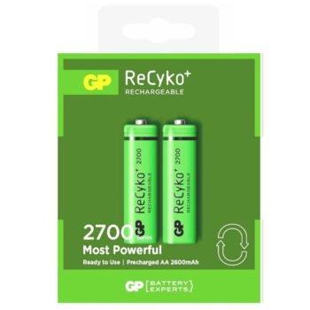 Акумулаторна батерия GP Batteries R6 Recyko, 270AAHCN-GB2, AA, 2600mAh, 1.2V, NiMH, 2бр. image