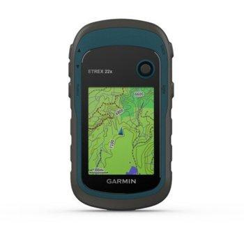 """Ръчна навигация Garmin eTrex 22x, 2.2""""(5.6cm), TFT сензорен цветен дисплей, 8GB вградена памет, microSD слот, водоустойчив, до 25 часа време за работа, основна карта image"""