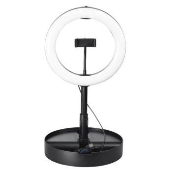 Монопод Hama SpotLight FoldUp 102, вграден Bluetooth, LED пръстен, мин/макс. височина 52-138, за смартфони с ширина от 6.0 - 8.0 см, черен image