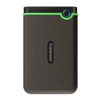 """Твърд диск 2TB Transcend Slim StoreJet M3S, тъмнозелен, 2.5"""" (6.35cm), външен, USB 3.1 image"""
