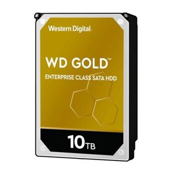 """Твърд диск 10TB WD Gold Enterprise, SATA 6GB/s, 7200 rpm, 256MB, 3.5"""" (8.89 cm) image"""