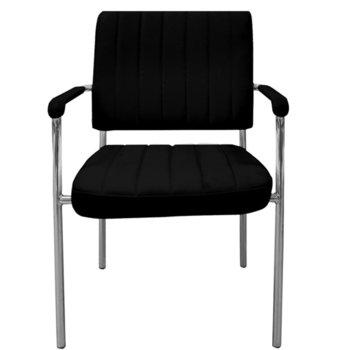 Посетителски стол RFG Glos M (ON4010100315), екокожа, 120 кг. максимално натоварване, черен image