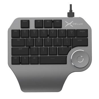 Дизайнерска клавиатура Delux Designer T11, сивa, USB image