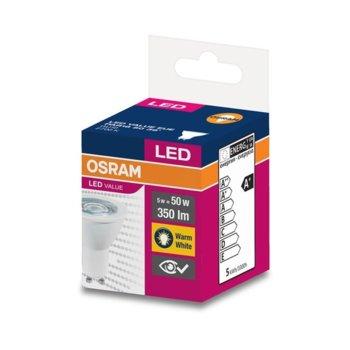 LED крушка Osram, GU10, 5W, 350 lm, 2700K image