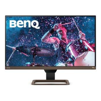 """Монитор BenQ EW2780U (9H.LJ7LA.TBE) в комплект със слушалки JBL Quantum 300, 27"""" (68.58 cm) IPS панел, 4K QHD, 5ms, 20M:1, 350cd/m2, DisplayPort, 2x HDMI, USB Type-C image"""
