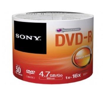 Оптичен носител DVD+R media 4.7GB, Sony 16x, 50бр. image