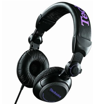 Слушалки Panasonic DJ Technics RP-DH1200E-K, 3.5mm жак, Extra Bass System, черни image