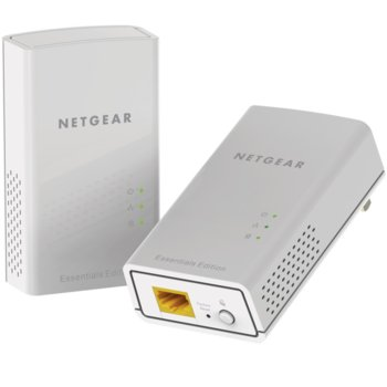 Powerline адаптер Netgear PL1000, 1000 Mbps, 1x 10/100/1000 Gigabit Ethernet, 2 устройства image
