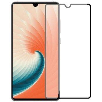 Протектор от закалено стъкло /Tempered Glass/, Premium, за Huawei Mate 20 , извит, черна рамка image