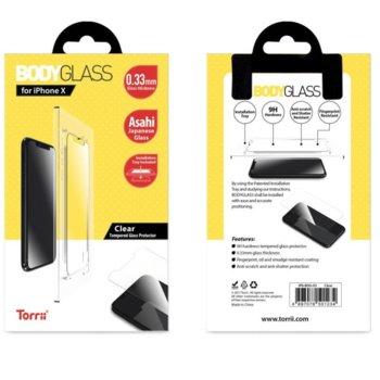 Протектор от закалено стъкло /Tempered Glass/ Тorrii BodyGlass IP8-BDG-03, Apple iPhone XS, iPhone X image