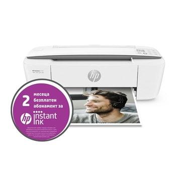 Мултифункционално мастиленоструйно устройство HP DeskJet 3750, цветен принтер/копир/скенер, 1200 x 1200 dpi, 19 стр/мин, WI-FI, USB, А4 image
