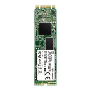 Памет SSD 1TB Transcend 830S, SATA 6Gb/s, M.2 2280, скорост на четене 560MB/s, скорост на запис 520MB/s image