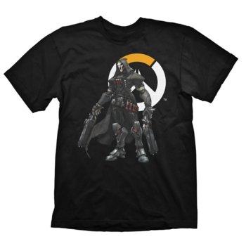 Тениска Gaya Entertainment Overwatch Reaper logo, размер L, черна image