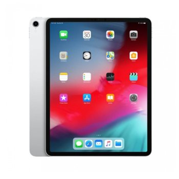 """Таблет Apple iPad Pro (2018)(MTEM2HC/A)(сребрист), 12.9"""" (32.76 cm) Liquid Retina дисплей, осемядрен A12X Bionic, 6GB RAM, 64GB Flash памет, 12.0 & 7.0 MPix камера, iOS 12, 631g image"""