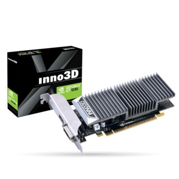 Видео карта Nvidia GeForce GT 1030, 2GB, Inno3D GeForce GT 1030 0DB, PCI-E 3.0, GDDR5, 64bit, HDMI, DVI image